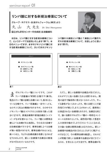 リンパ腫に対する新規治療薬について(丸山大先生)