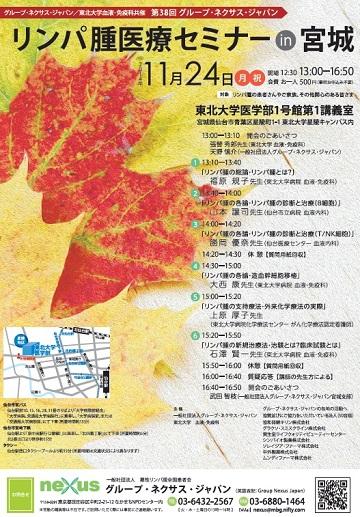 第38回グループ・ネクサス・ジャパンリンパ腫医療セミナーin宮城チラシ