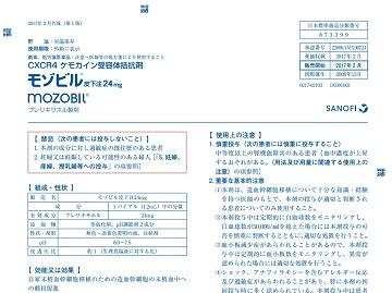 添付文書「モゾビル皮下注24mg」(2017年2月作成第1版)