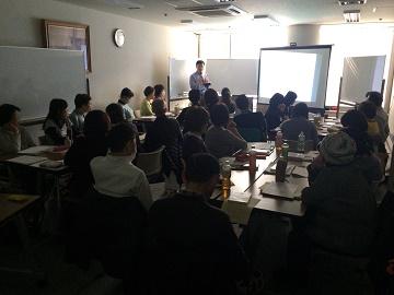 小川朝生先生による講義(2017年3月に大阪で開催されたネクサス「がんサロン研修会」にて)