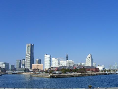 横浜港(横浜赤レンガ倉庫とみなとみらい)