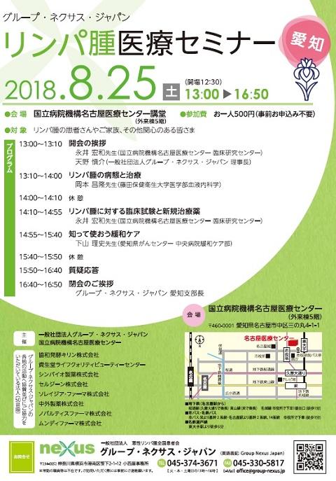 グループ・ネクサス・ジャパンリンパ腫医療セミナー(愛知)